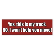 My Truck Bumper Bumper Sticker
