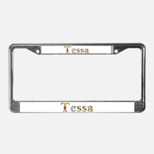 Tessa Bright Flowers License Plate Frame