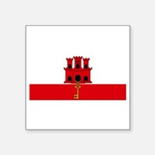 "Gibraltar Dark - Front and  Square Sticker 3"" x 3"""