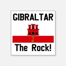 "Gibraltar - Front and Back Square Sticker 3"" x 3"""