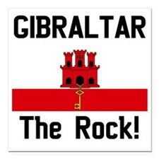 "Gibraltar - Front and Ba Square Car Magnet 3"" x 3"""