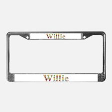Willie Bright Flowers License Plate Frame