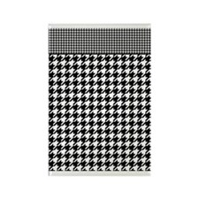 Black | White Houndstooth Pattern Rectangle Magnet