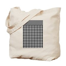 Black | White Houndstooth Pattern Tote Bag