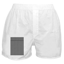 Black | White Houndstooth Pattern Boxer Shorts