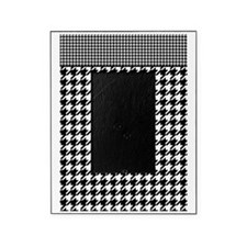 Black   White Houndstooth Pattern Picture Frame