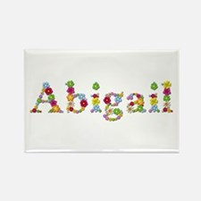 Abigail Bright Flowers Rectangle Magnet