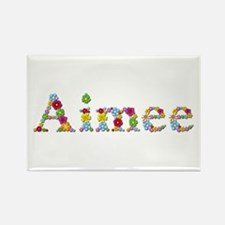 Aimee Bright Flowers Rectangle Magnet