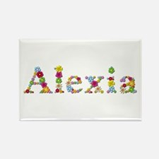 Alexia Bright Flowers Rectangle Magnet