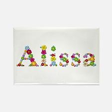 Alissa Bright Flowers Rectangle Magnet