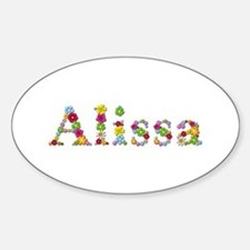 Alissa Bright Flowers Oval Decal