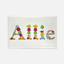 Allie Bright Flowers Rectangle Magnet
