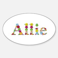 Allie Bright Flowers Oval Decal