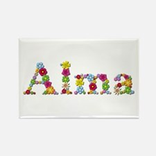 Alma Bright Flowers Rectangle Magnet