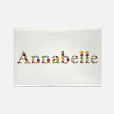 Annabelle Bright Flowers Rectangle Magnet