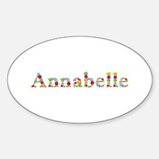 Annabelle Bright Flowers Oval Decal