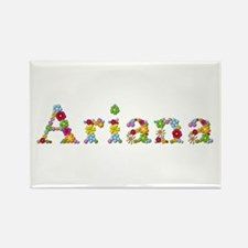 Ariana Bright Flowers Rectangle Magnet