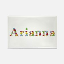 Arianna Bright Flowers Rectangle Magnet