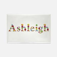Ashleigh Bright Flowers Rectangle Magnet