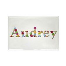 Audrey Bright Flowers Rectangle Magnet