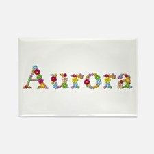Aurora Bright Flowers Rectangle Magnet