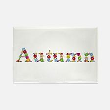 Autumn Bright Flowers Rectangle Magnet