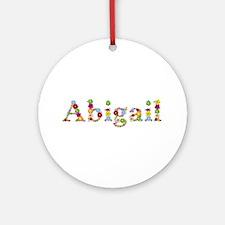 Abigail Bright Flowers Round Ornament
