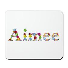 Aimee Bright Flowers Mousepad