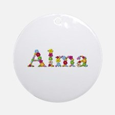 Alma Bright Flowers Round Ornament