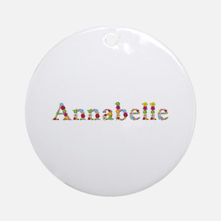 Annabelle Bright Flowers Round Ornament