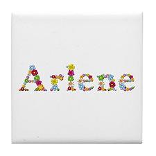 Arlene Bright Flowers Tile Coaster