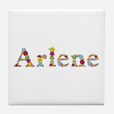 Arlene Bright Flowers Tile Coaster