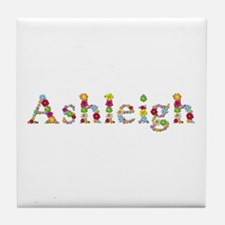 Ashleigh Bright Flowers Tile Coaster