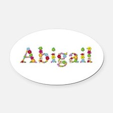 Abigail Bright Flowers Oval Car Magnet