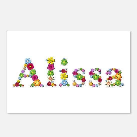 Alissa Bright Flowers Postcards 8 Pack
