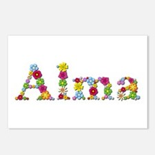 Alma Bright Flowers Postcards 8 Pack