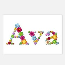Ava Bright Flowers Postcards 8 Pack