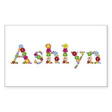 Ashlyn Bright Flowers Rectangle Decal