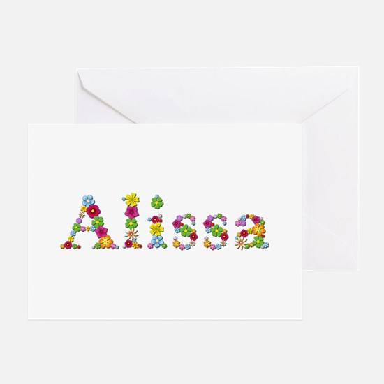 Alissa Bright Flowers Greeting Card