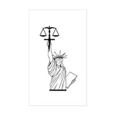 Blind Justice Rectangle Decal