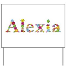Alexia Bright Flowers Yard Sign