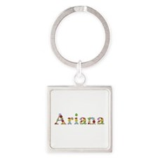 Ariana Bright Flowers Square Keychain