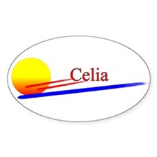 Celia Oval Decal