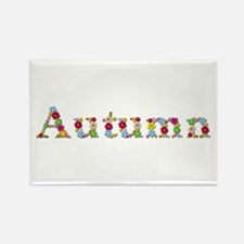 Autumn Bright Flowers Rectangle Magnet 100 Pack