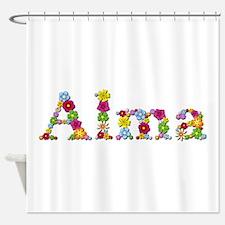 Alma Bright Flowers Shower Curtain