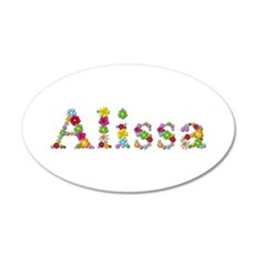 Alissa Bright Flowers Wall Decal