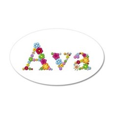 Ava Bright Flowers Wall Decal