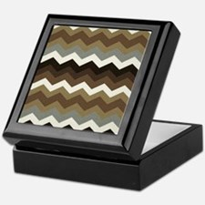 Dark Chocolate Chevron Keepsake Box