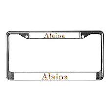 Alaina Bright Flowers License Plate Frame