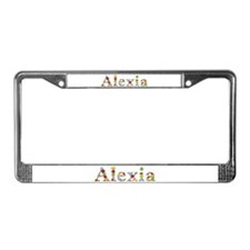Alexia Bright Flowers License Plate Frame